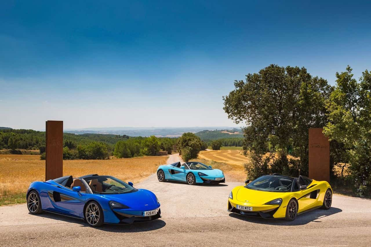 mclaren 570s spider colors