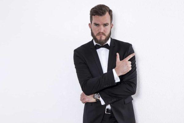 black tie example