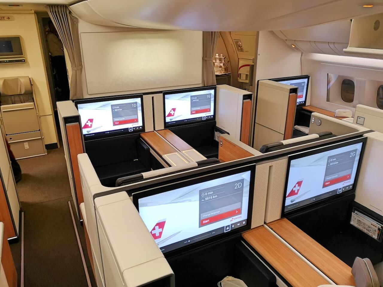 swiss airline first class