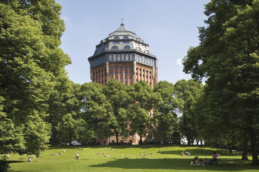 Wasserturm Ausblick vom Park