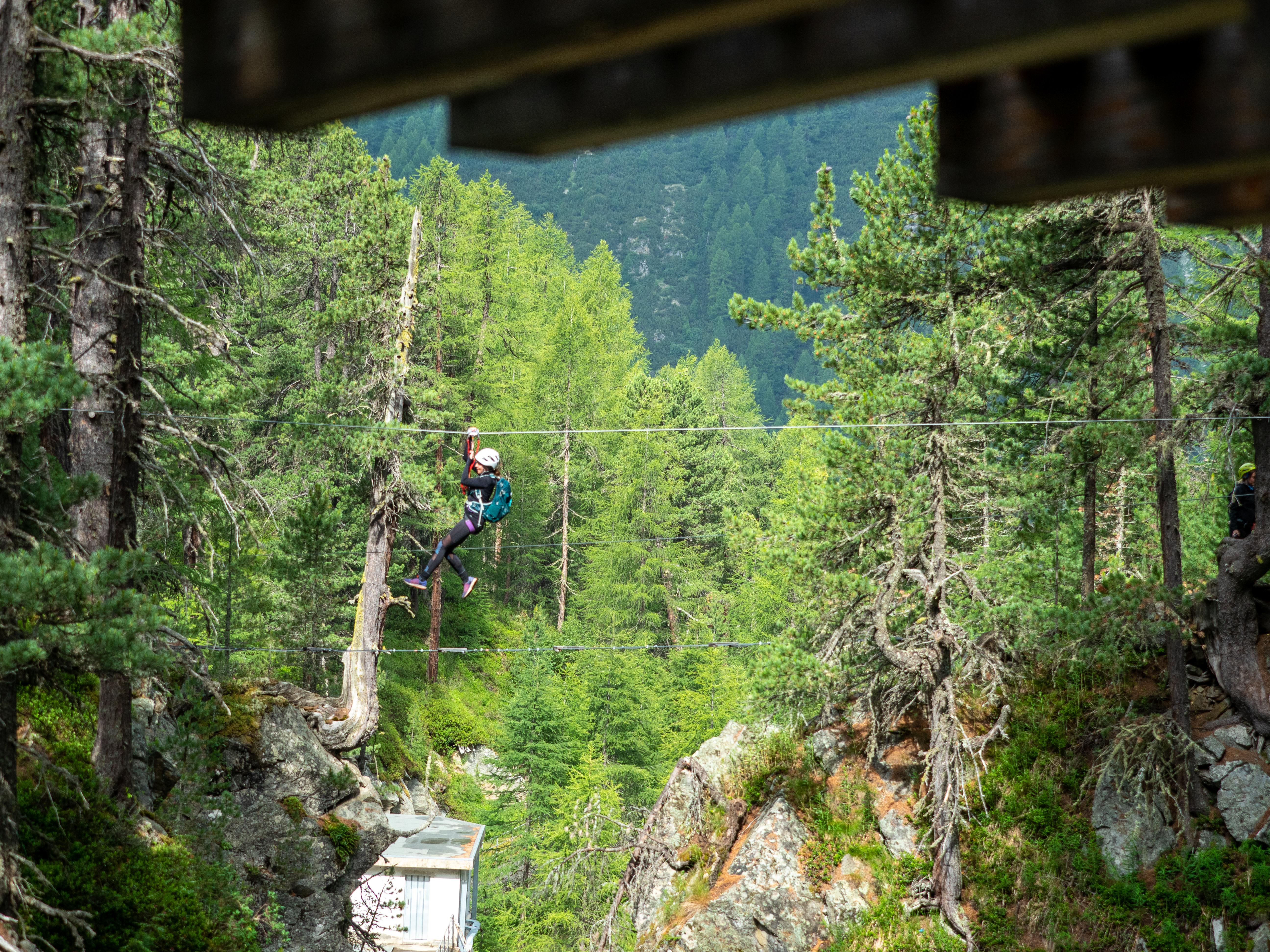 Val delle Mine - Klettersteig, Seilbrücken