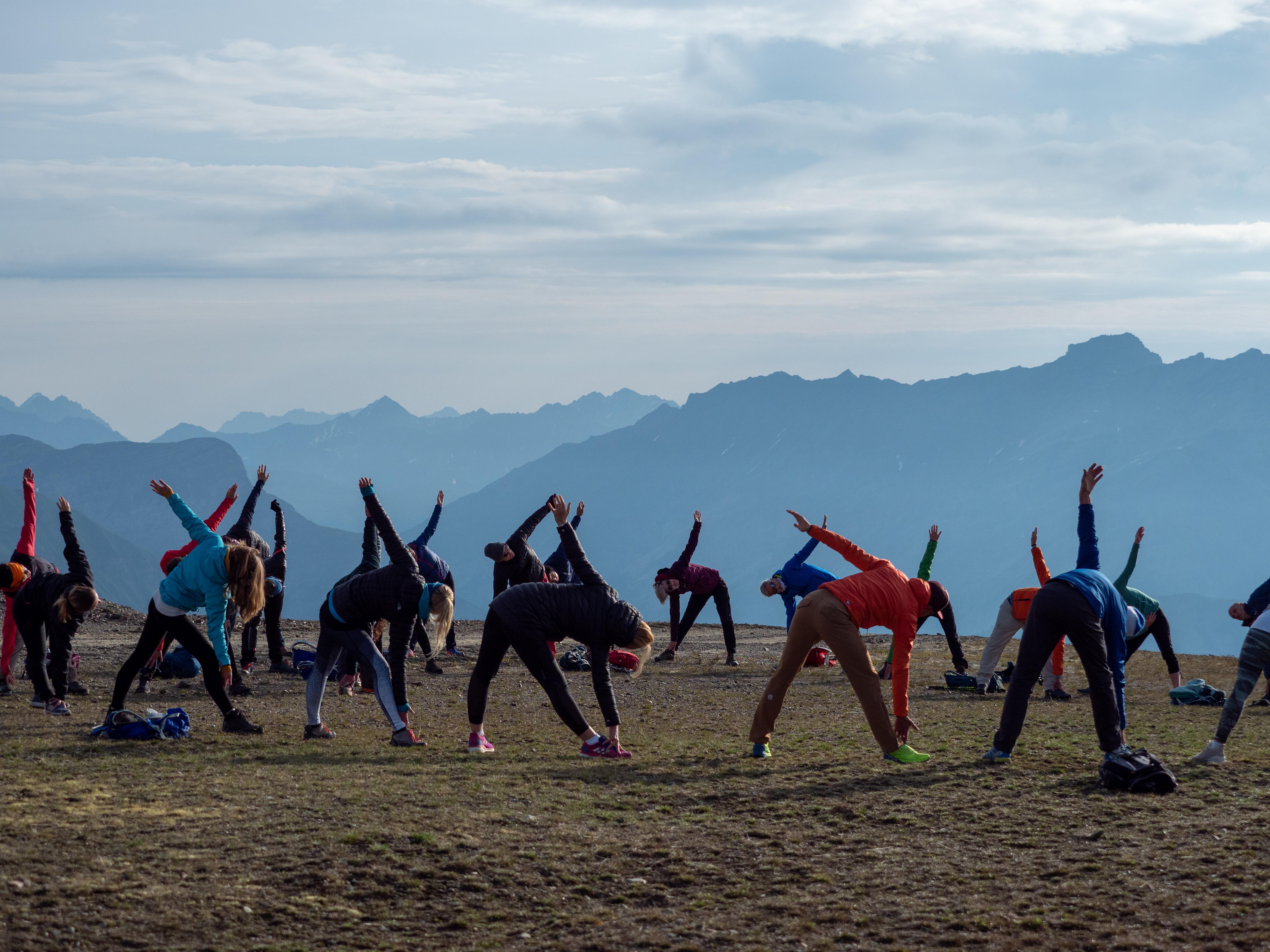 Yoga at  Monte de Rezze 2958m