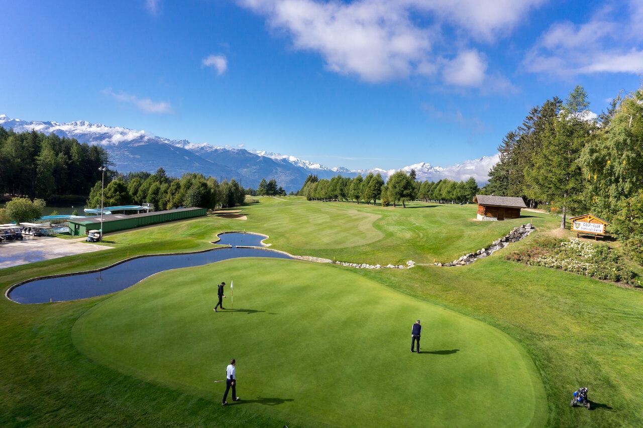 golf course crans montana